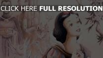 schneewittchen und die sieben zwerge schneewittchen böse königin disney malerei