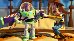 lachen buzz lightyear woody pixar disney toy story