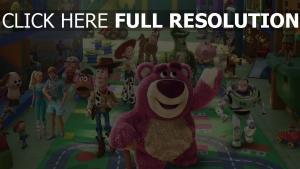 disney lotso pixar toy story exkursion woody specki jessie charlie naseweis rex buzz lightyear