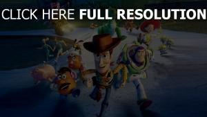 toy story disney jessie pixar rex laufen woody buzz lightyear verfolgung