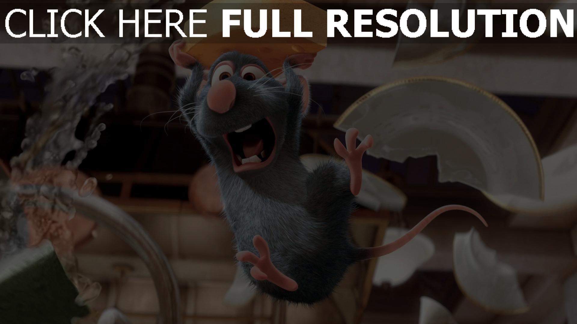 hd hintergrundbilder schrei ratte käse ratatouille pixar remy 1920x1080
