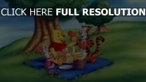 picknick tigger ferkel disney winnie puuh honig