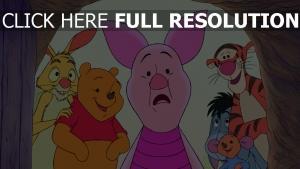 winnie puuh i-ah ferkel roo lächeln tigger disney tür rabbit