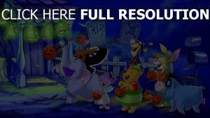 halloween i-ah winnie puuh rabbit tür tigger ferkel roo kostüme disney