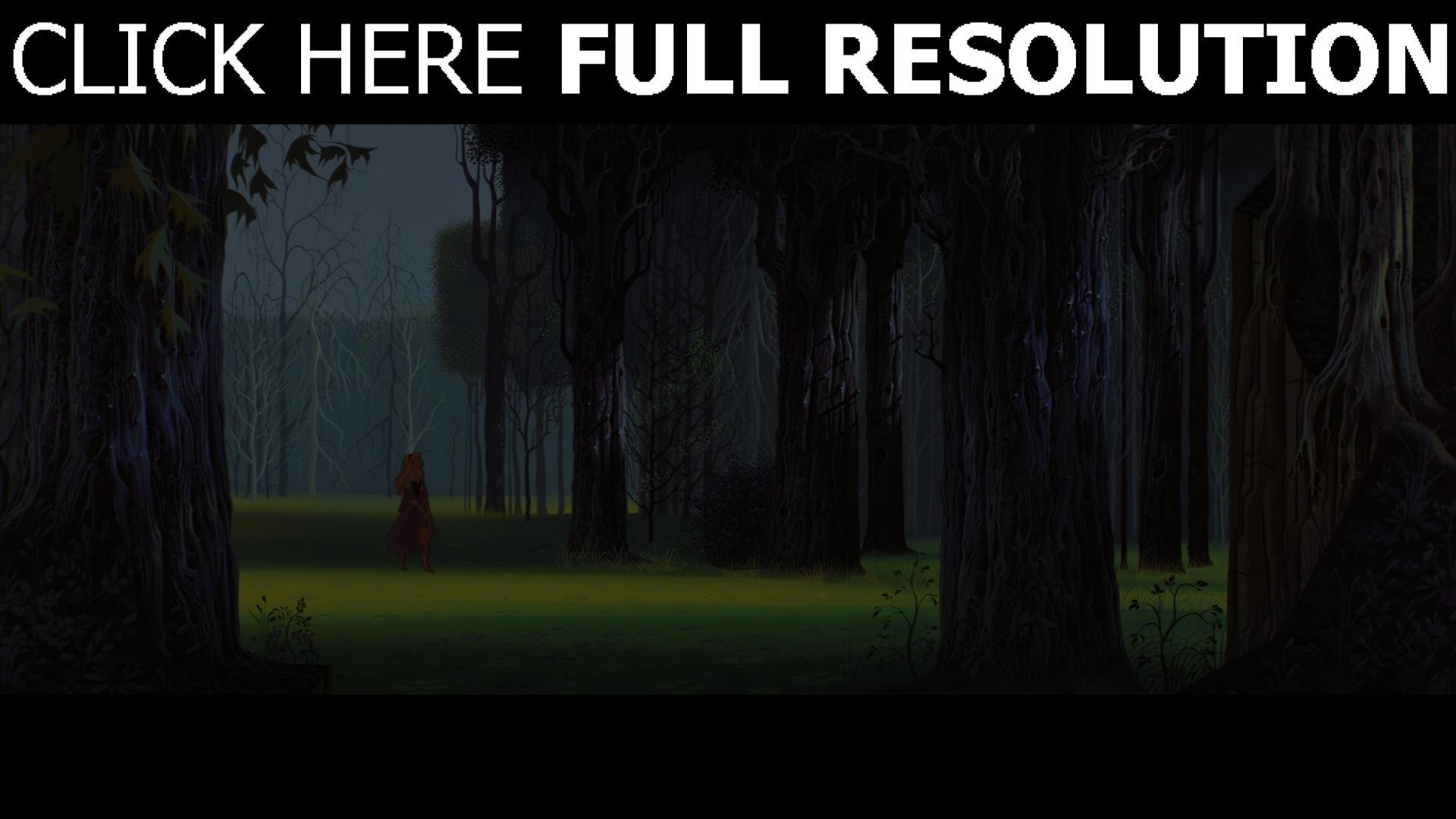 hd hintergrundbilder dornröschen aurora wald disney 1920x1080