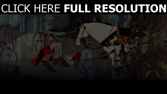 hd hintergrundbilder prinz pferd disney dornröschen