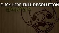 lilo & stitch stitch disney holz gesicht
