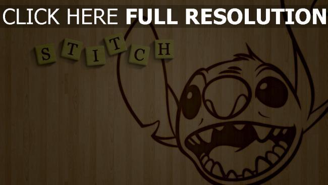 hd hintergrundbilder lilo & stitch stitch disney holz gesicht