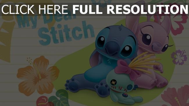 hd hintergrundbilder puppe lilo & stitch disney engel stitch