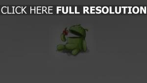 android apfel zeichnung grau grün
