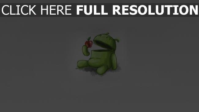 hd hintergrundbilder android apfel zeichnung grau grün