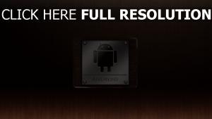android metall holz textur emblem