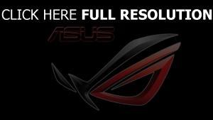 asus graben logo emblem schwarz rot