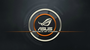 asus republic of gamers logo grau