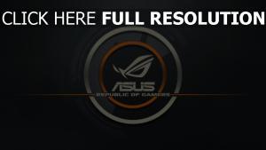 asus republic of gamers logo grau