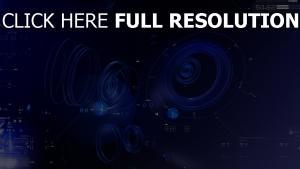 blau abstrakt ringe kreise zahlen