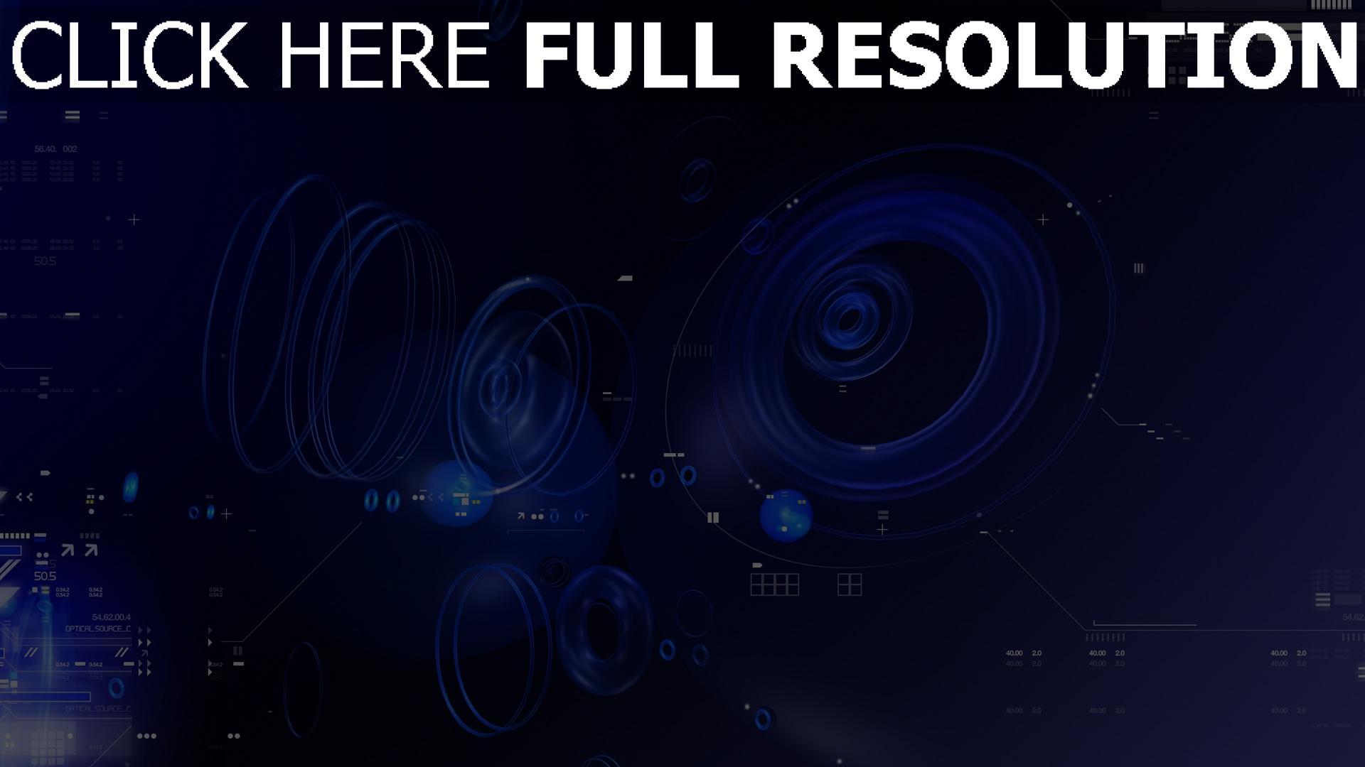 HD Hintergrundbilder blau abstrakt ringe kreise zahlen ...