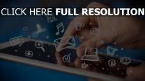 tablet smartphone gadget symbolen screen