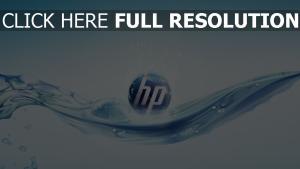 hp logo blau wasser blasen