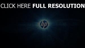 hp logo emblem blau abstrakt