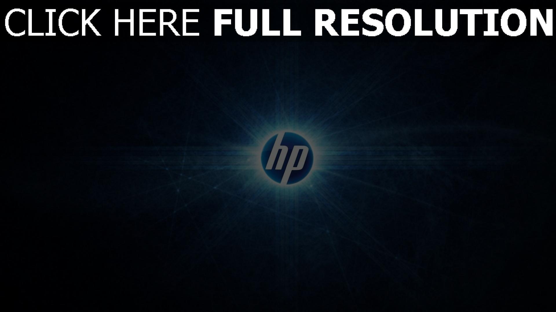 hd hintergrundbilder hp logo emblem blau abstrakt desktop