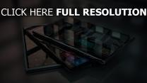 tabletten flach bildschirm spiegel sensor