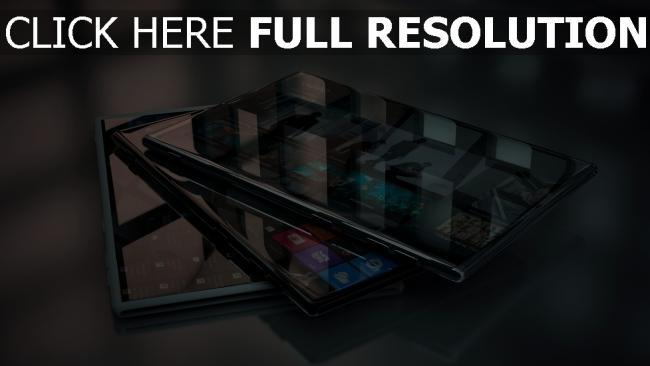 hd hintergrundbilder tabletten flach bildschirm spiegel sensor