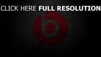 monster beat logo emblem hintergrund grau