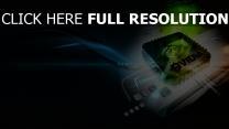 nvidia logo grün blau chip