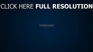 samsung logo hintergrund blau slogan