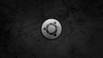 linux ubuntu grau metall logo
