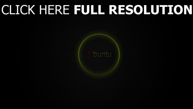 hd hintergrundbilder linux ubuntu logo kreis grün
