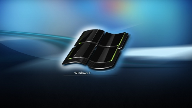 hd hintergrundbilder windows 7 emblem logo blau