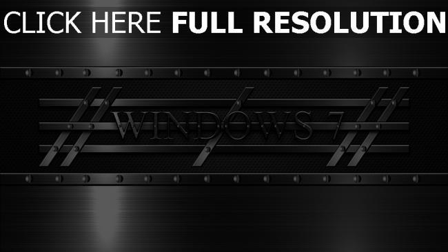 hd hintergrundbilder windows 7 emblem logo 3d stahl
