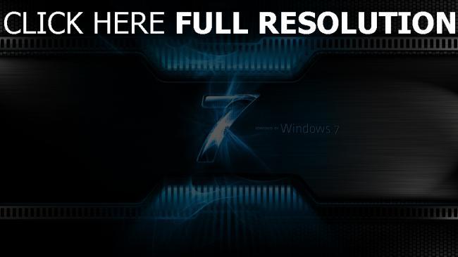 hd hintergrundbilder windows 7 logo beleuchtung blau