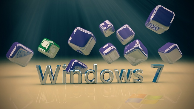 hd hintergrundbilder windows 7 logo 3d würfel