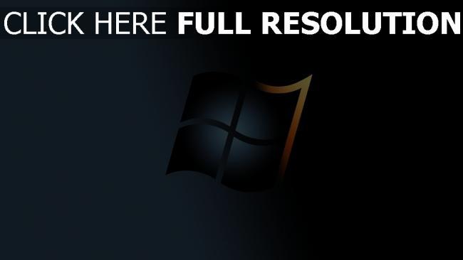 hd hintergrundbilder windows 7 logo grau gelb