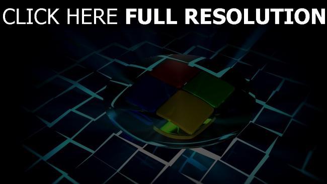 hd hintergrundbilder windows 7 logo emblem licht strahlen