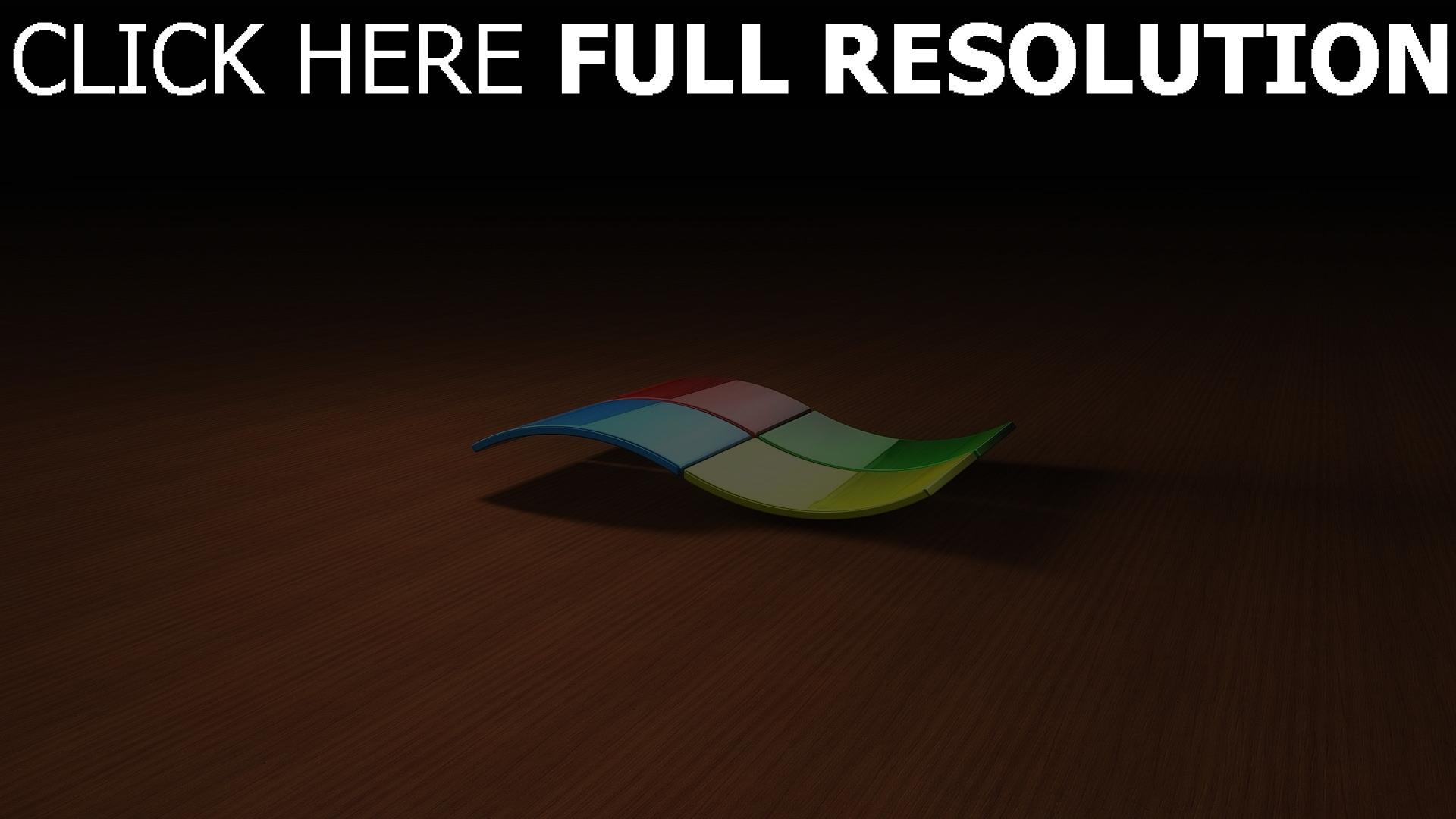 hd hintergrundbilder windows logo emblem 3d bunt 1920x1080