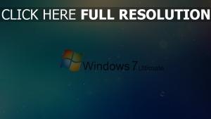windows 7 logo hintergrund blau blasen