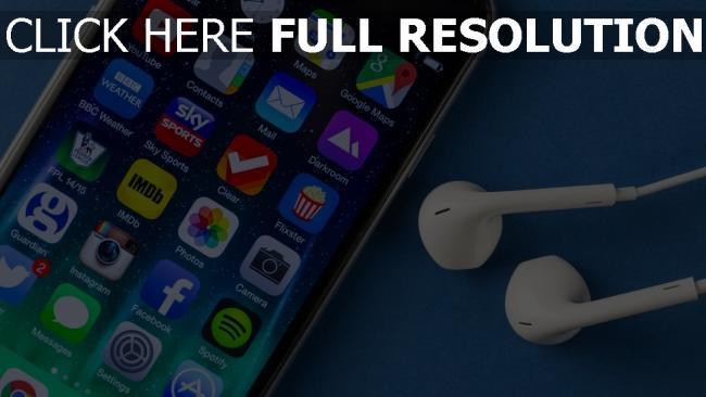hd hintergrundbilder kopfhörer iphone 6 display apple