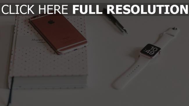 hd hintergrundbilder notebook gerät apple iphone 6 iwatch
