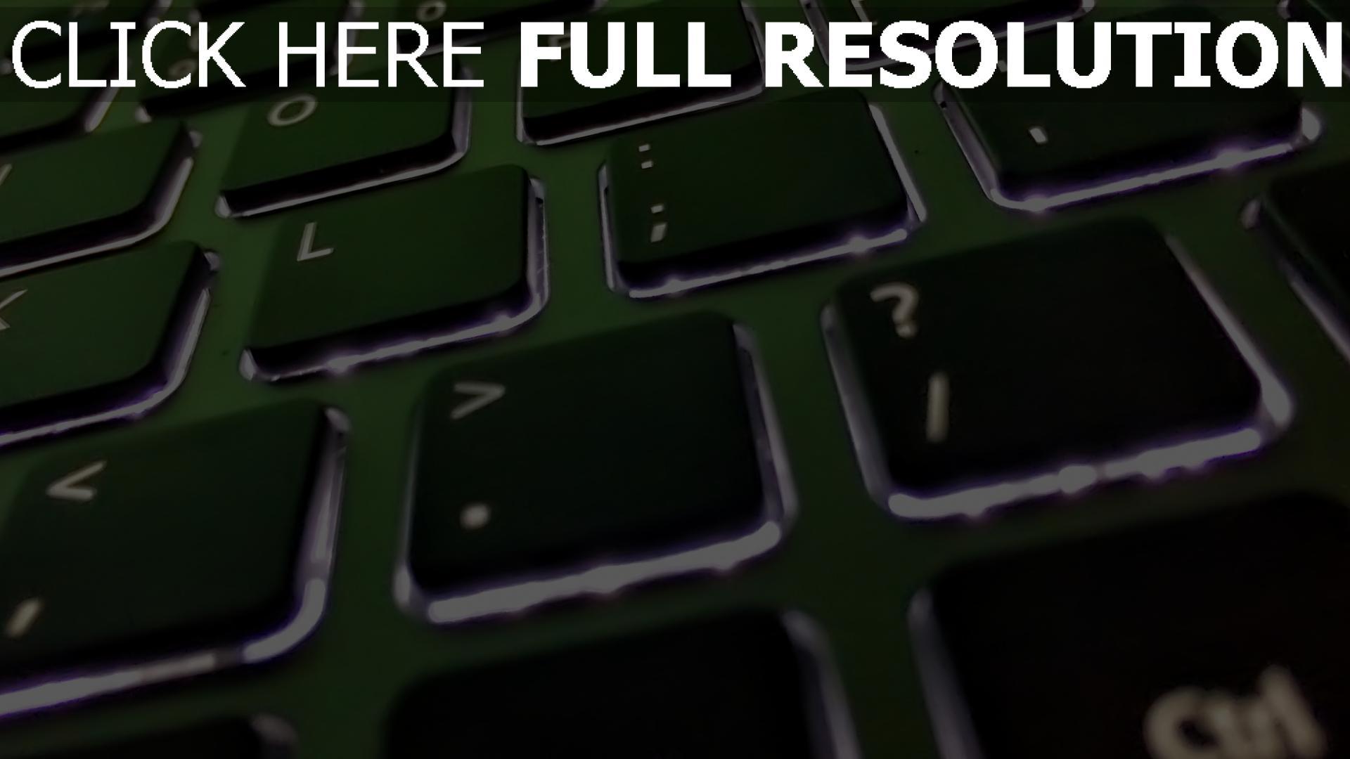 hd hintergrundbilder tastatur beleuchtung laptop 1920x1080