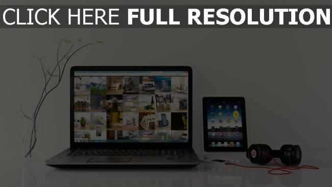 hd hintergrundbilder kopfhörer monster beats ipad laptop