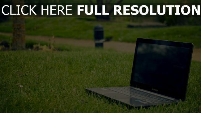 hd hintergrundbilder samsung laptop gras