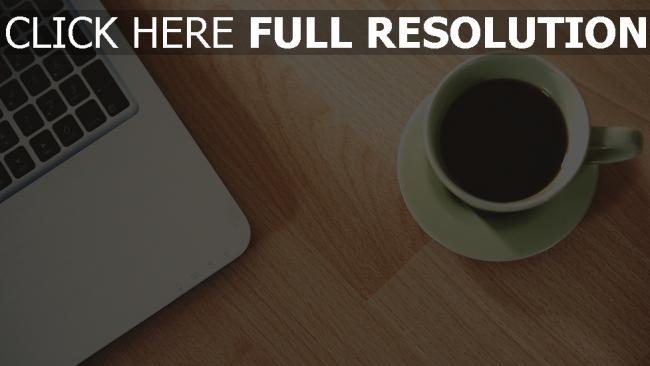 hd hintergrundbilder tasse kaffee macbook apple