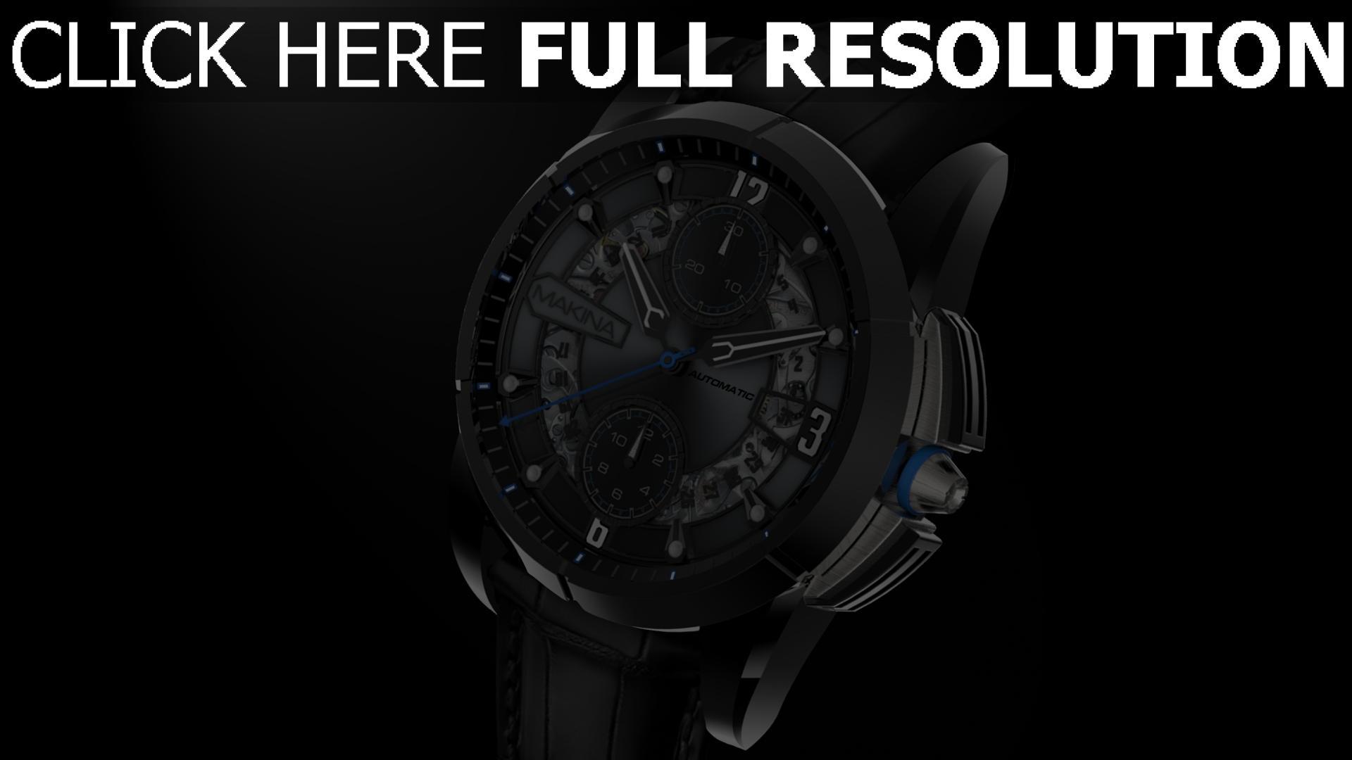 hd hintergrundbilder armbanduhr zifferblatt makina 1920x1080