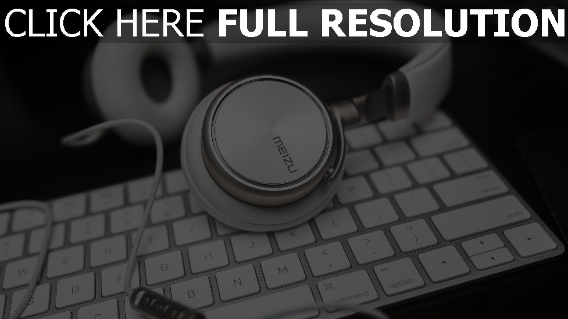 hd hintergrundbilder tastatur meizu kopfhörer 1920x1080