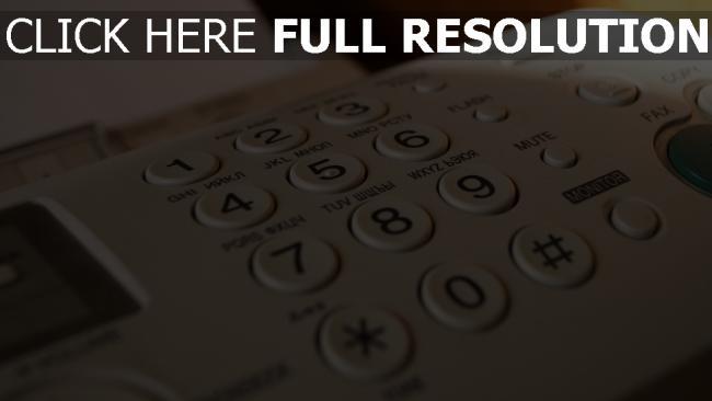 hd hintergrundbilder tasten telefon fax
