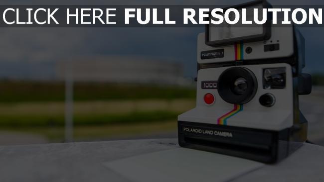 hd hintergrundbilder retro kamera polaroid